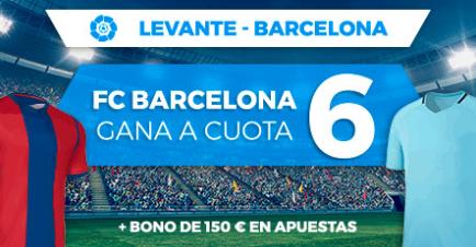 apuestas legales Supercuota Paston la Liga Levante - Barcelona