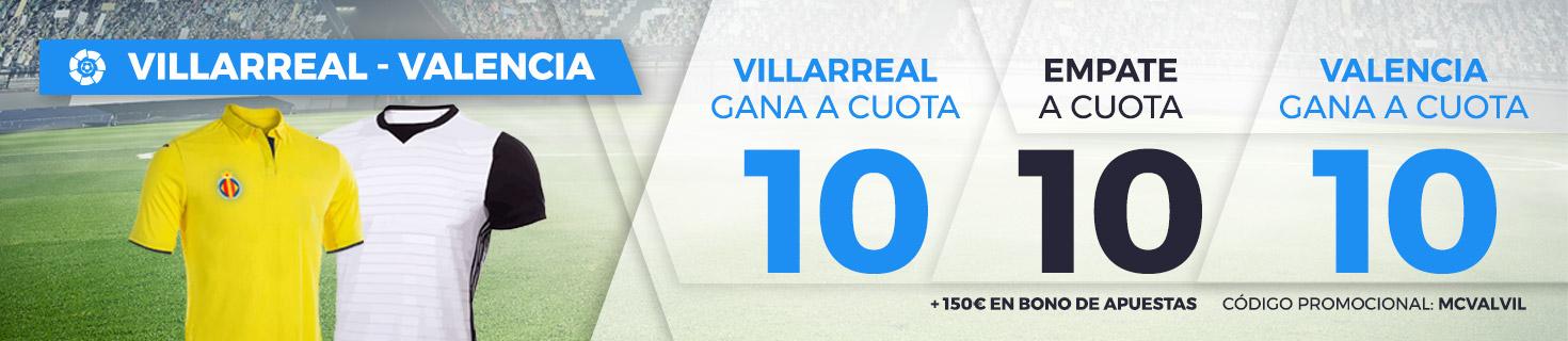 apuestas legales Supercuota Paston la Liga: Villareal - Valencia