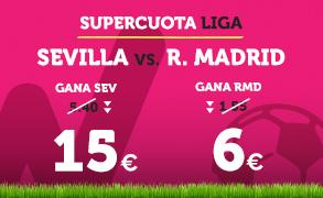 apuestas legales Supercuota Wanabet la Liga Sevilla vs R. Madrid