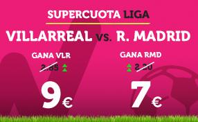 apuestas legales Supercuota Wanabet la Liga Villarreal vs R. Madrid