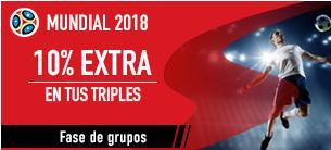 apuestas legales Sportium Mundial 2018 10% extra en tus triples
