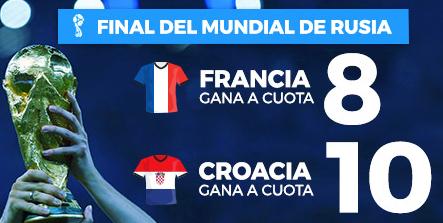apuestas legales Supercuota Paston Final Mundial Rusia Francia - Croacia